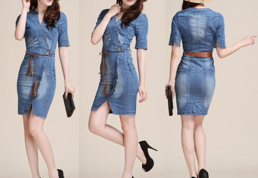 8 Style Ideas for a Voluminous Short Denim Dress