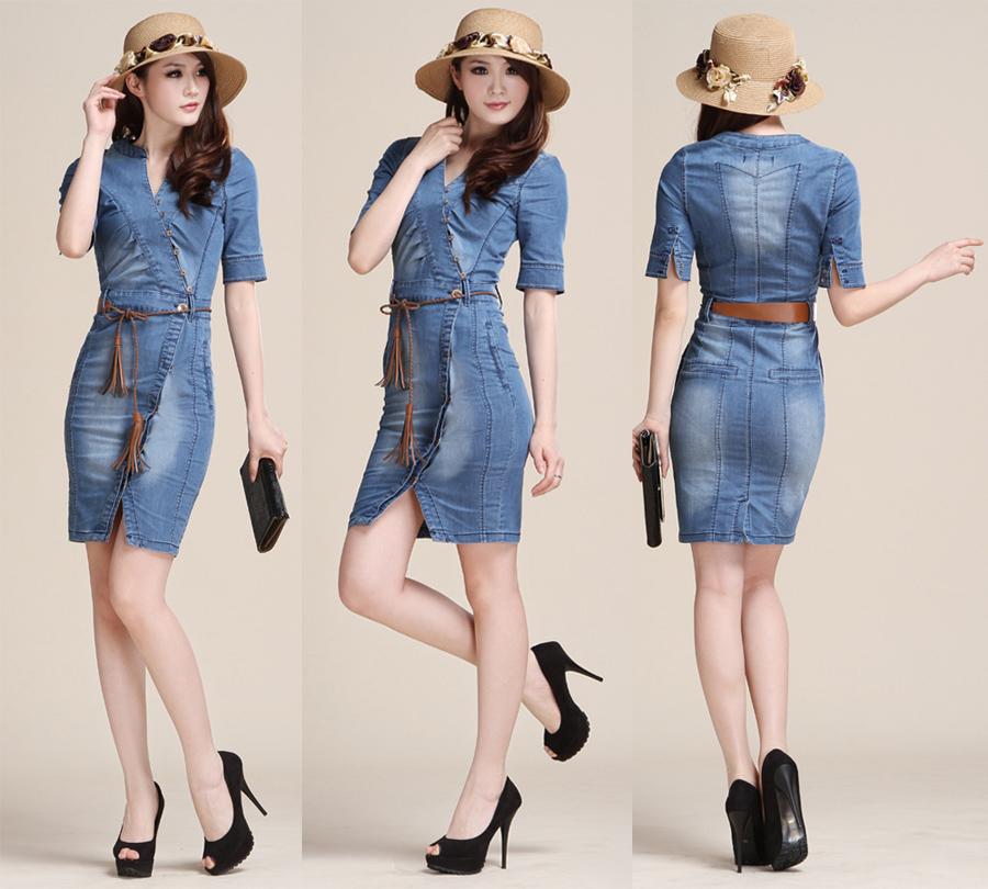 Short Denim Dress